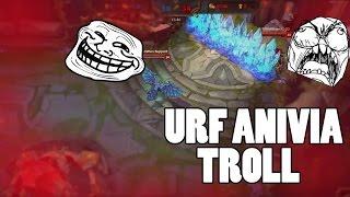 LOL URF Anivia Wall TROLL !!