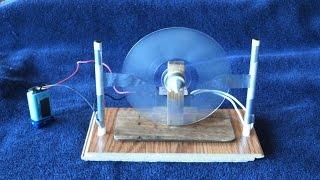 Clear Disk Electrostatic Motor
