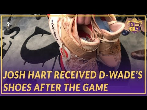 Lakers Post Game: Josh Hart on Shoes He Received From Wade After the Game