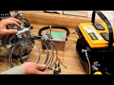 ford 6g type triple bridge rectifier high output alternator wiring  instructions - youtube