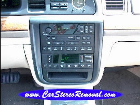 Lincoln Continental Car Stereo Removal - YouTube