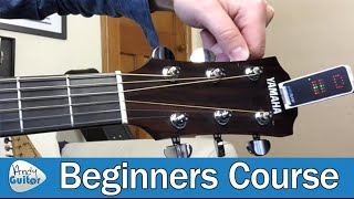 How to Tune A Guitar (Lesson 0 04) Beginner Guitar Tutorial