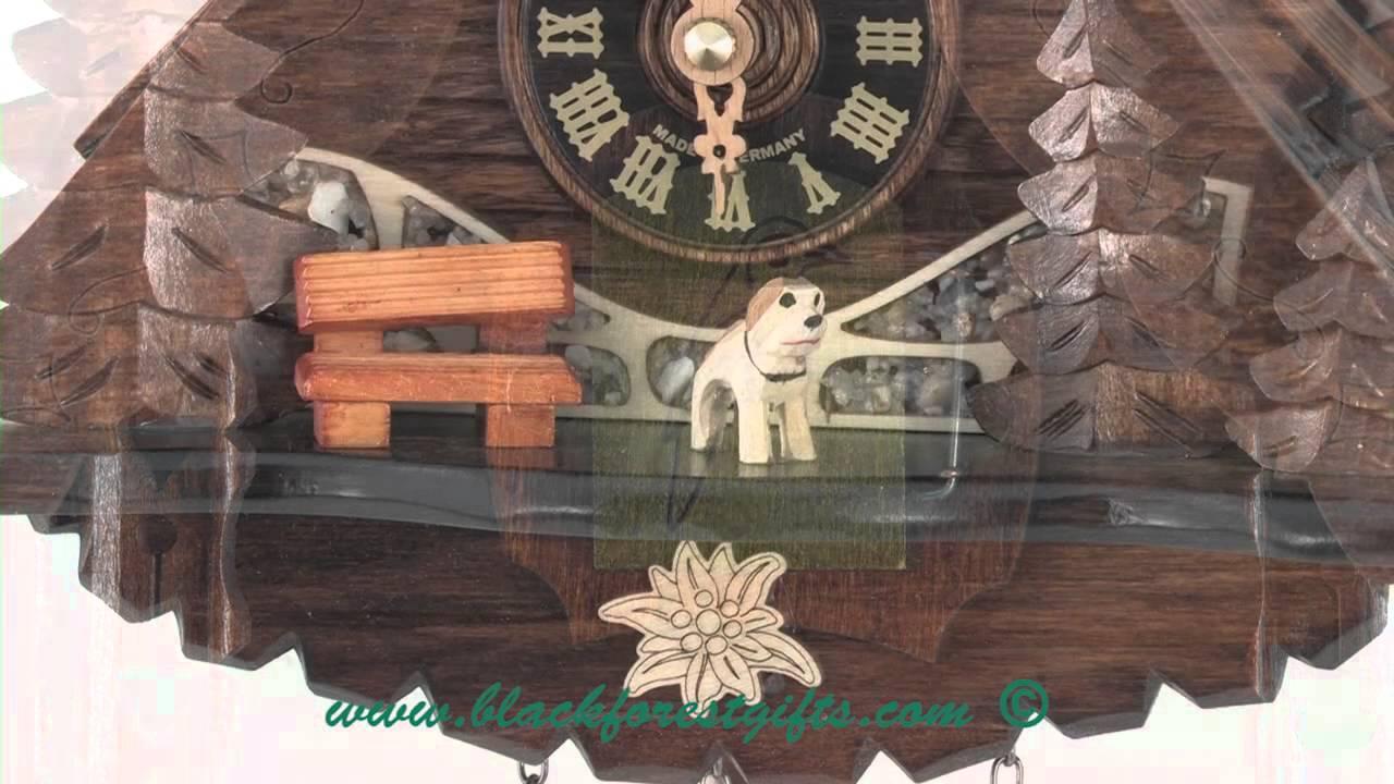 471qm Mg Black Forest Quartz Cottage Cuckoo Clock Youtube