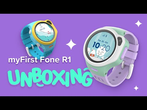 myFirst Fone R1 Unboxing Video – World's First 4G LTE Music Smartwatch Phone with GPS & Video Call