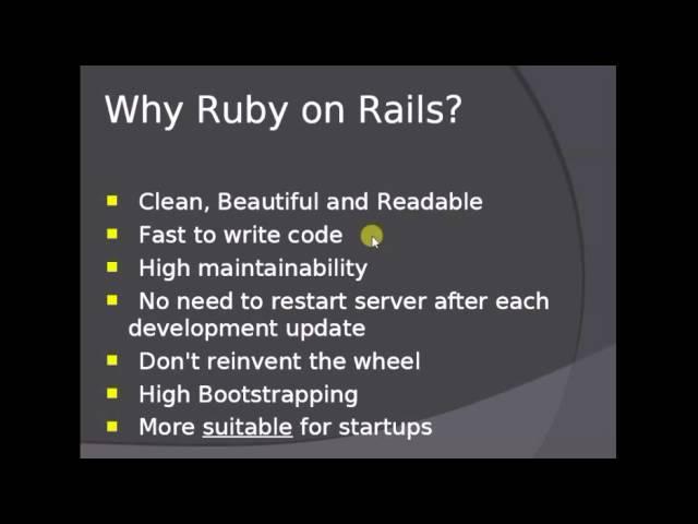 Web Development Using Ruby on Rails