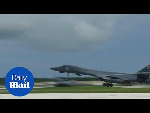 US shows off bombers at Guam's air force base after threats in August - Daily Mail