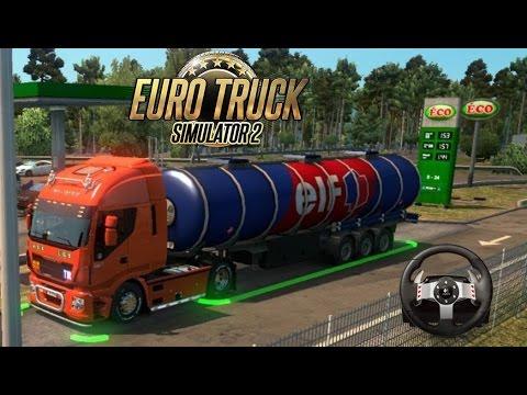 Euro Truck Simulator [1.26] Real Life - Delivering at Gas Station  Vive La France