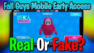 Chinese Fall Guys Mobile Early Access Real ? | JellyBean Ultimate Knockout Real ? | Fall Guys Mobile