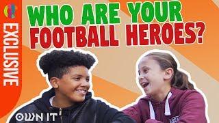 Beckham or Ronaldo? Jamie Johnson Stars Discuss Football Heroes