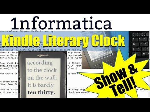 How to Make a Literary Clock from an Old Kindle (Video
