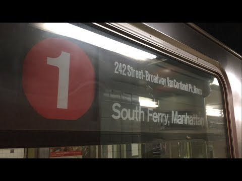 IRT Broadway Line: (1) Trains Ends/Begins Service with Downtown and Bronx bound (1) Trains @ 137 St