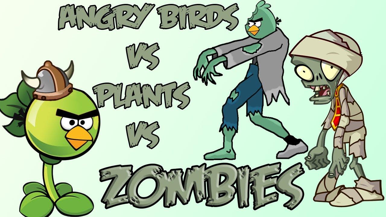 Angry birds vs plants vs zombies youtube angry birds vs plants vs zombies voltagebd Image collections