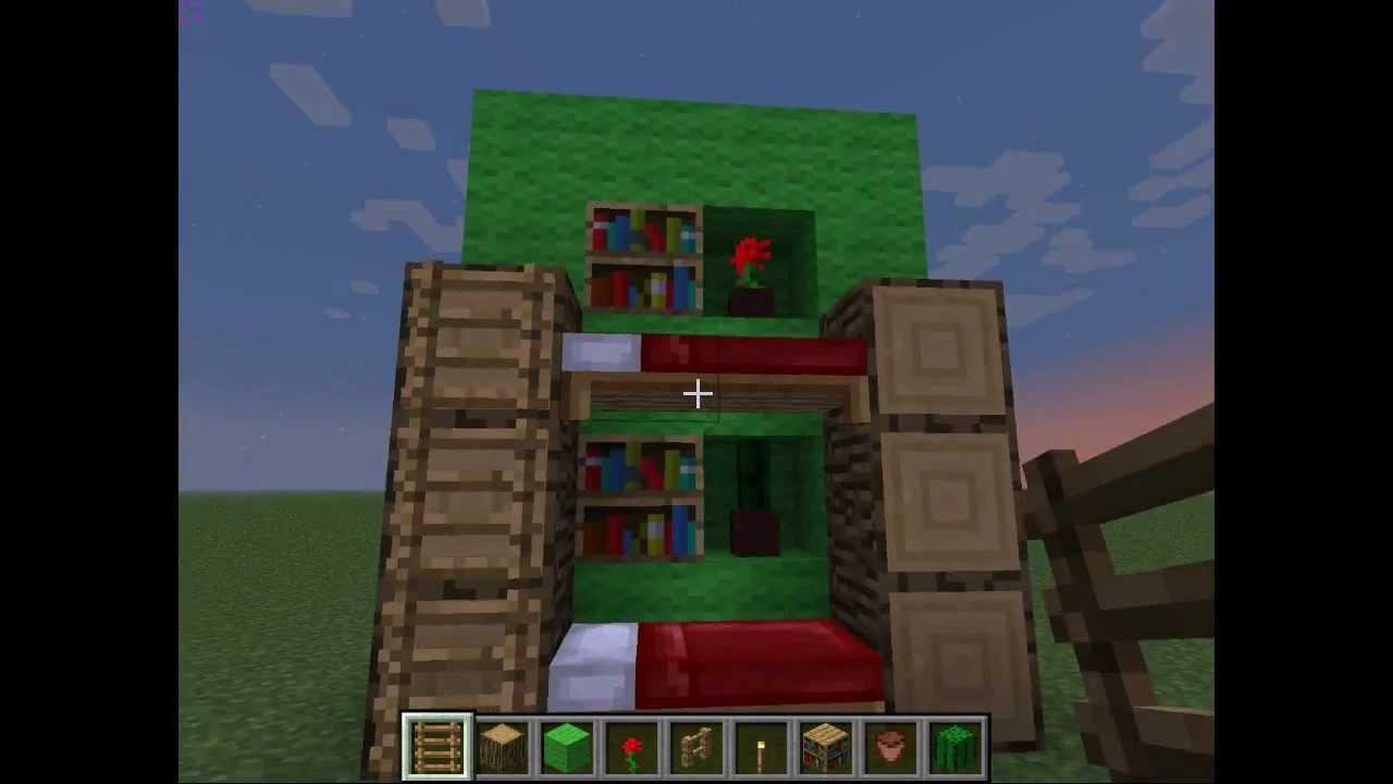 doppelbett in minecraft selber bauen tutorial 1 youtube. Black Bedroom Furniture Sets. Home Design Ideas