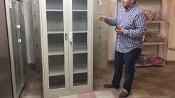 2 glass door file cabinet  Office Metal Box Lockers Cabinets Storage  Vertical Filing