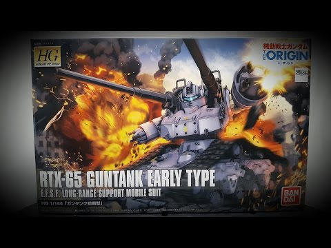 SHOKY REVIEWS: HG Gundam The Origin Guntank Early Type (review and compare)