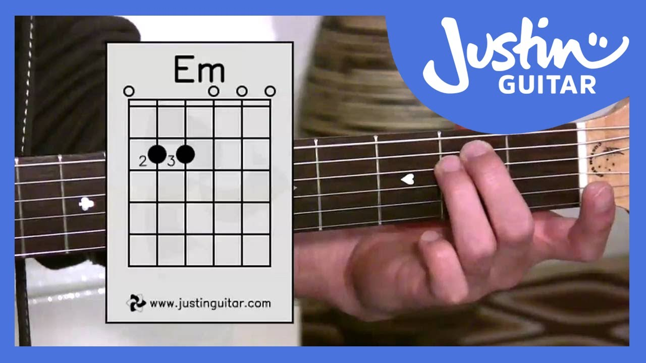 E Minor Chord Em Stage 2 Guitar Lesson Guitar For Beginners