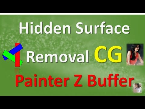 Hidden Surface Removal CG Painter Z Buffer in HINDI