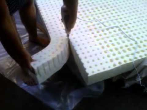 Resize Latex Mattress From Queen To Full Youtube