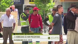 11 homicidios se han presentado en Rionegro en el 2018