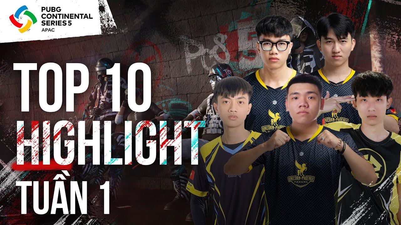 DatBlue, HungVoDich, Chu, Zest, Clee,... cùng Top 10 Highlight tuần 1 VCK PCS5 APAC