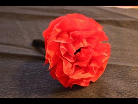 C mo hacer una flor con papel crep youtube - Como hacer flores ...