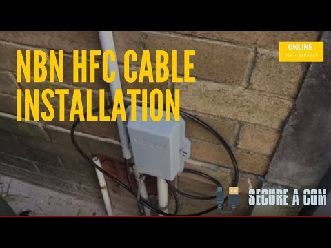 NBN HFC CABLE INSTALLATION | Single Story Home in Sydney