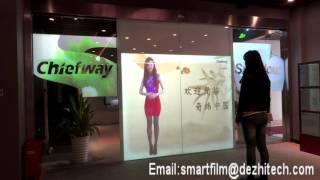 Smart glass smart film advertising display automatic doors