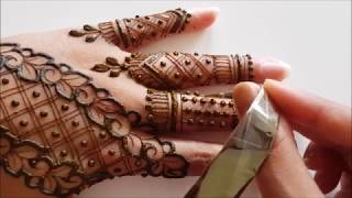 Easy intricate henna mehendi design