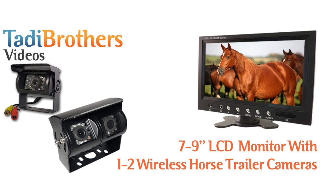 Wireless Horse Trailer Backup Camera System with Single or Dual Lens ...