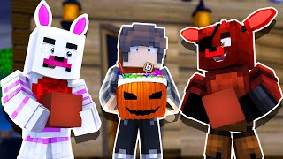 Trick or Treating as Foxy the Pirate! | Minecraft FNAF Roleplay