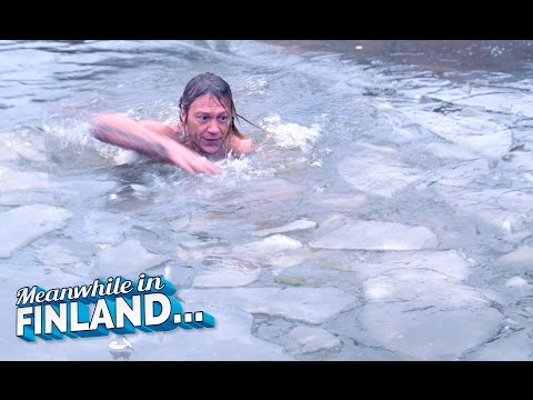 SAVAGE ICE SWIMMING CHALLENGE! - Meanwhile In Finland EP 2