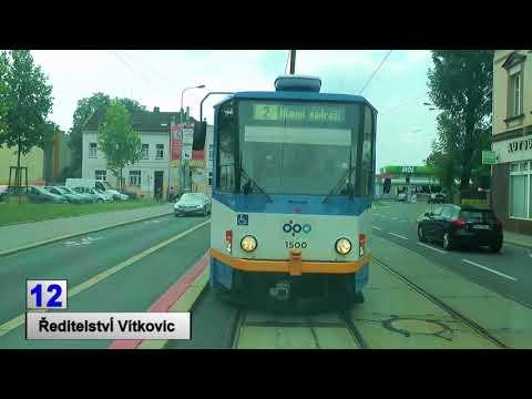 Tramwaje Ostrava 2018 linia 12