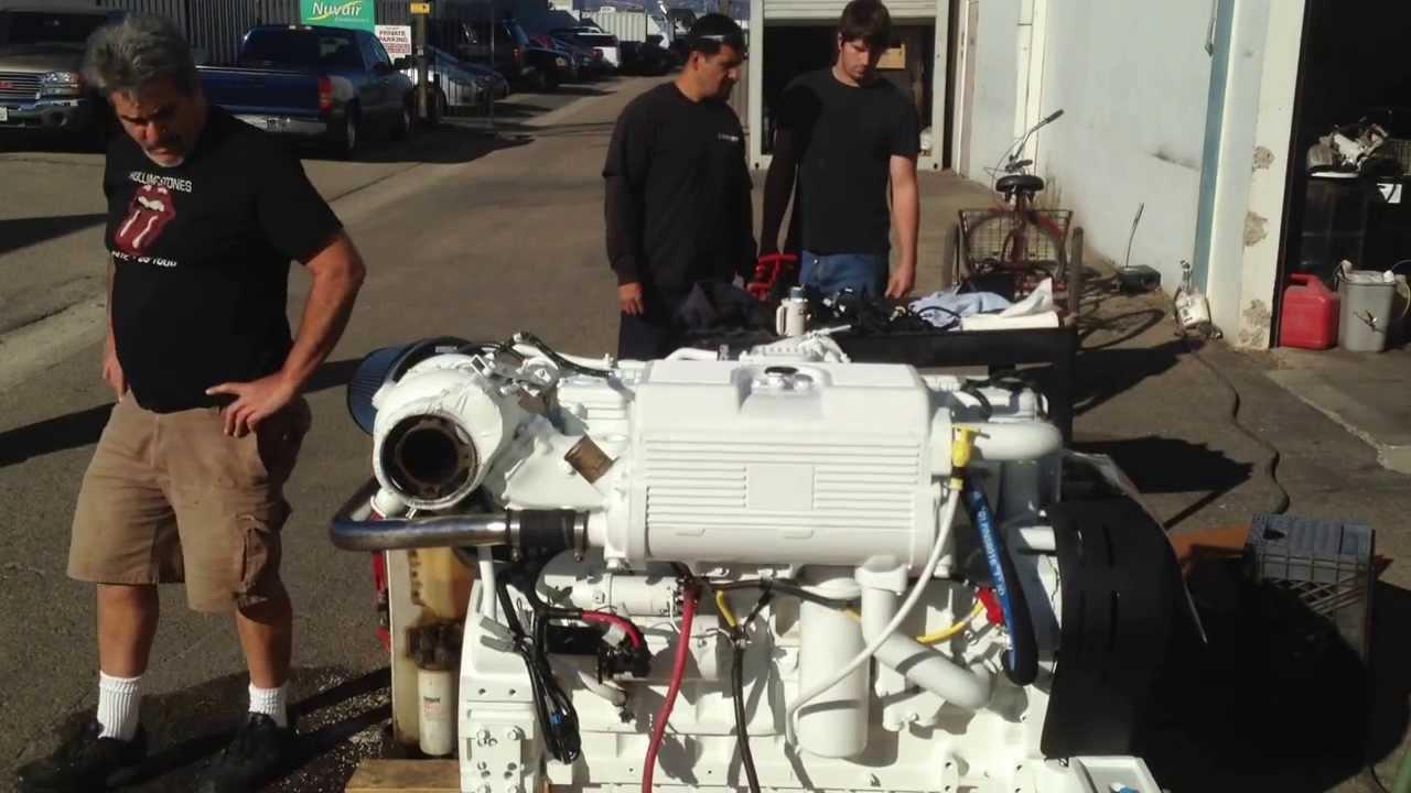 Cummins Diesel Engines >> Startup of a new Cummins RECON QSC 8.3 Marine Diesel... - YouTube