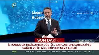 İstanbul Sancaktepe Sarıgazi mevkiinde helikopter düştü