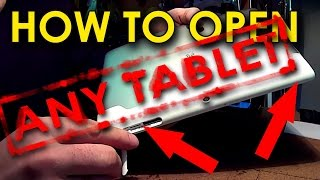 How to open chinese android tablet with simple tools  Как вскрывать китайские планшеты простыми инст