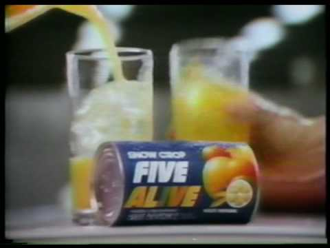 Five Alive Juice Cl Ic Tv Commercial 1981