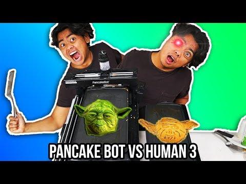 I Tried To Pancake Art Against a Pancake Bot (Round 3)