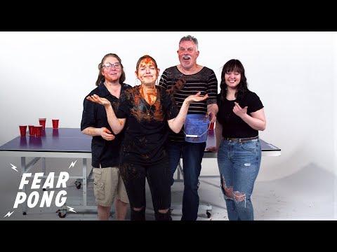 Fear Pong Family Edition (Codi & Mickey vs. Danielle & Breanna) | Fear Pong | Cut