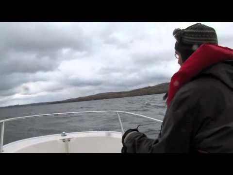 Quebec-Vermont border... Three men in a Boston Whaler 110 Sport