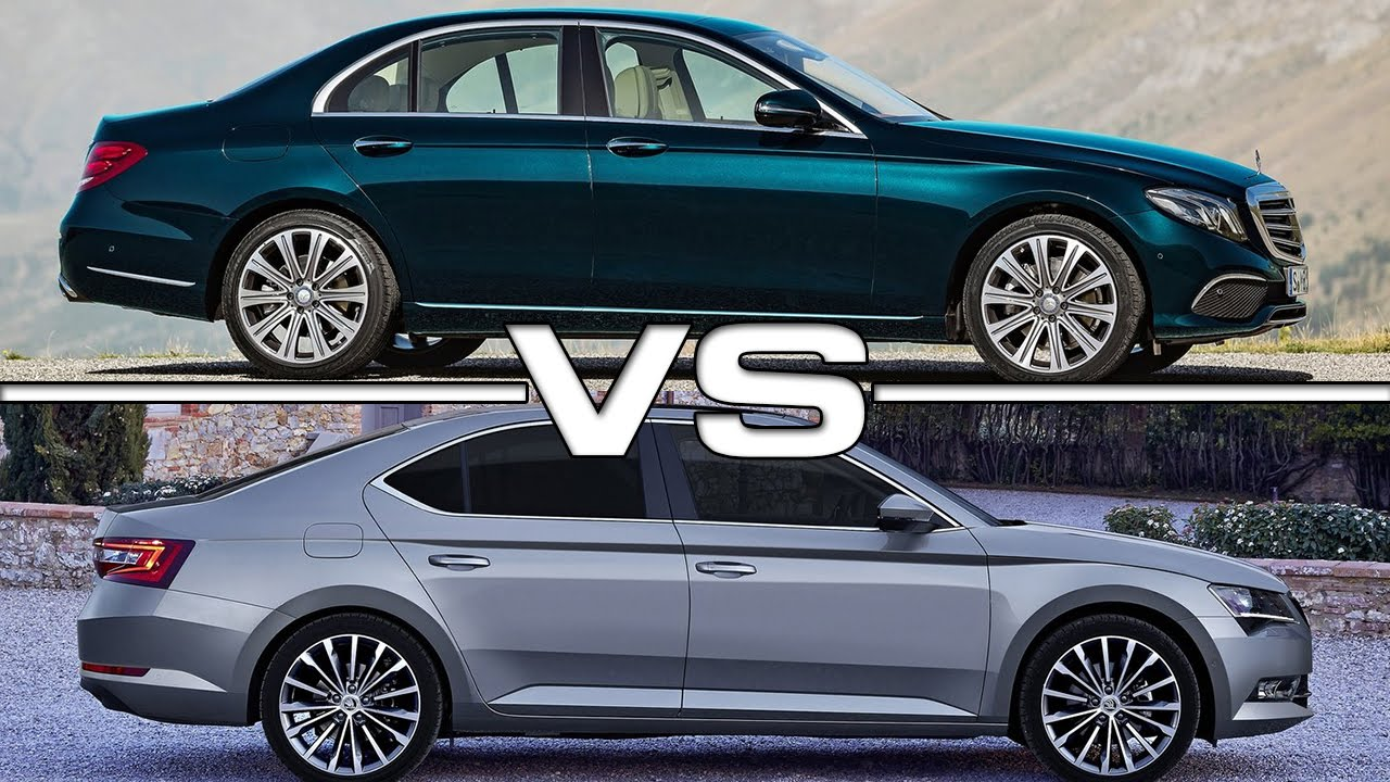 2017 mercedes benz e class vs 2016 skoda superb youtube. Black Bedroom Furniture Sets. Home Design Ideas