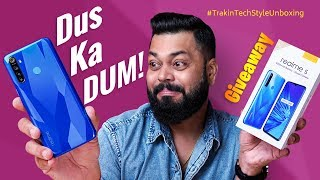 Realme 5 Unboxing & First Impressions ⚡ Best Smartphone Under 10,000? + 2X Giveaway