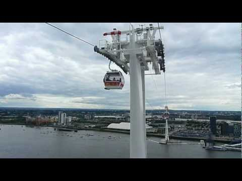 Riding the Dangleway sometimes referred to as the Emirates Air Line