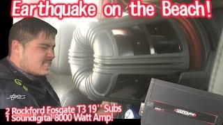 "Video Earthquake at the beach! CRAZY BASS! 2 GIGANTIC 19"" Subs Walled! Powered by 1 Soundigital 8000.1d download MP3, 3GP, MP4, WEBM, AVI, FLV Juni 2018"