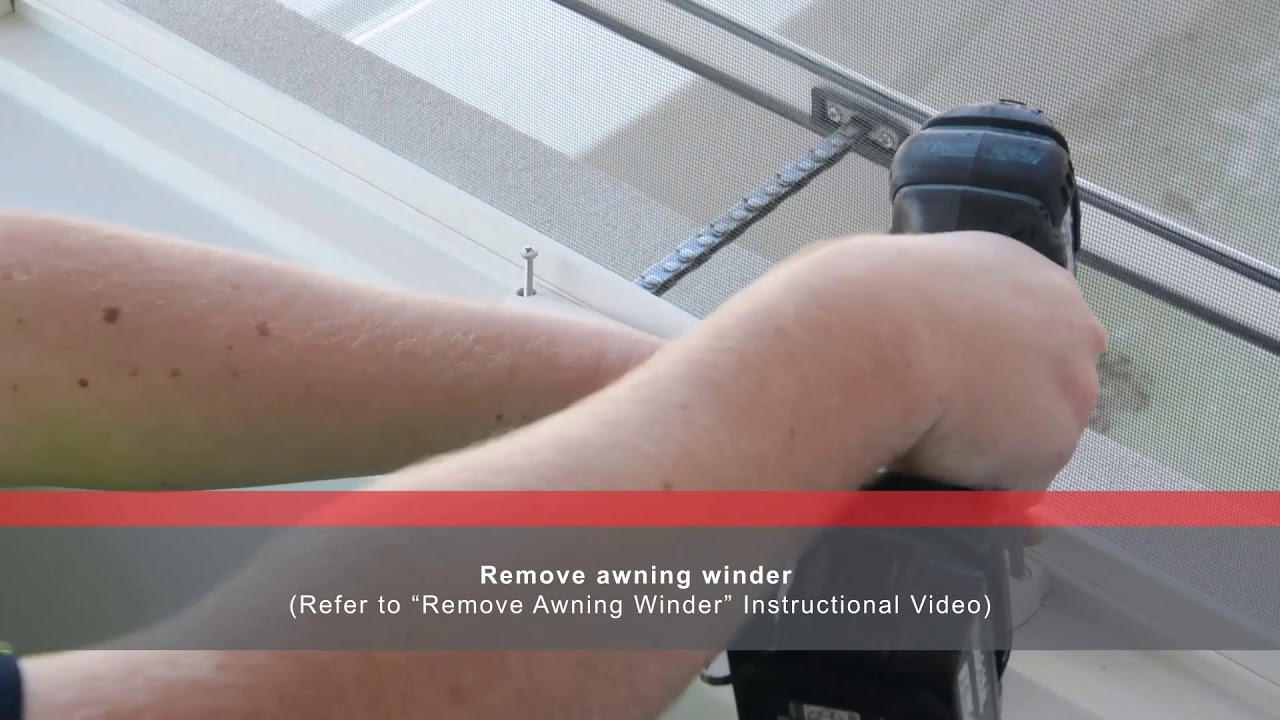 How To Adjust Awning Window Winders To Be Restrictive