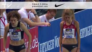 Konstanze Klosterhalfen -  8:32,47 min - DM-Halle - 3.000 m - am 16.02.2019 in Leipzig