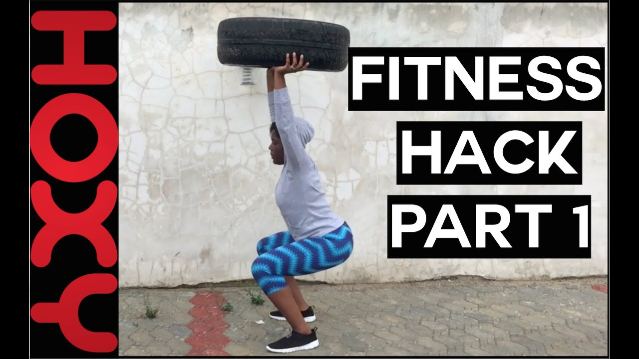 Workout Routine At Home Fitness Hack With Car Tire Youtube