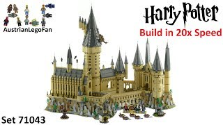 Building Lego Hogwarts Castle in 20x Speed - Set 71043 - Lego Harry Potter