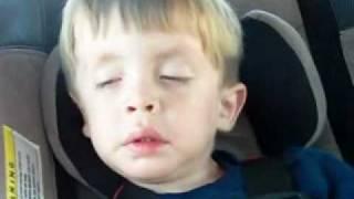 2 Yr July - Snoring in Car.wmv
