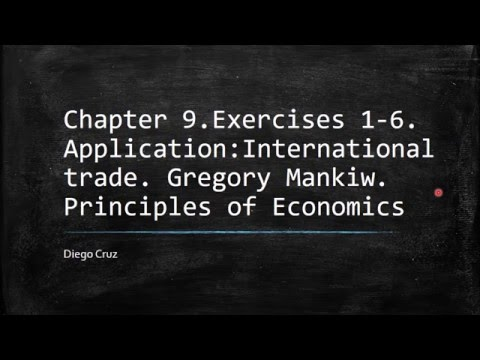 Chapter 9.Exercises 1-6. Application:International trade. Principles of Economics