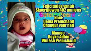 Felicitatie Ahiel Armaan Kasiemkhan
